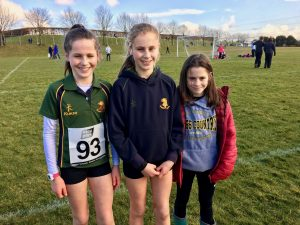 Lucy, Kirsti and Jodi Foster - racing at 3 levels - Mini, Minor and Primary respectively at Ulster Schools Cross Country