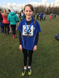 Anna Gardiner - 3rd Mini Girls at Ulster Schools Cross Country