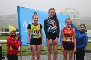 U15 Girls Podium (1st) Libby Maloney, Megan Briggs (2nd), Eve