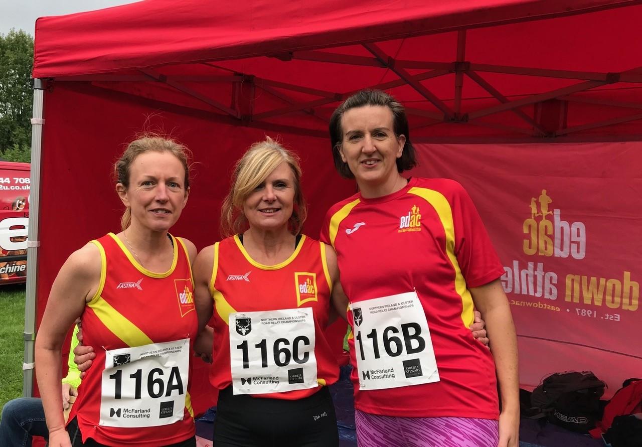 Clare Carson, Sharon Madine and Cheryl Denvir - Masters Team