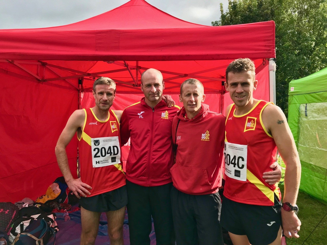 Neil Curran, Paul Lloyd, Martin Willcox and Davy Foster - Masters A Team