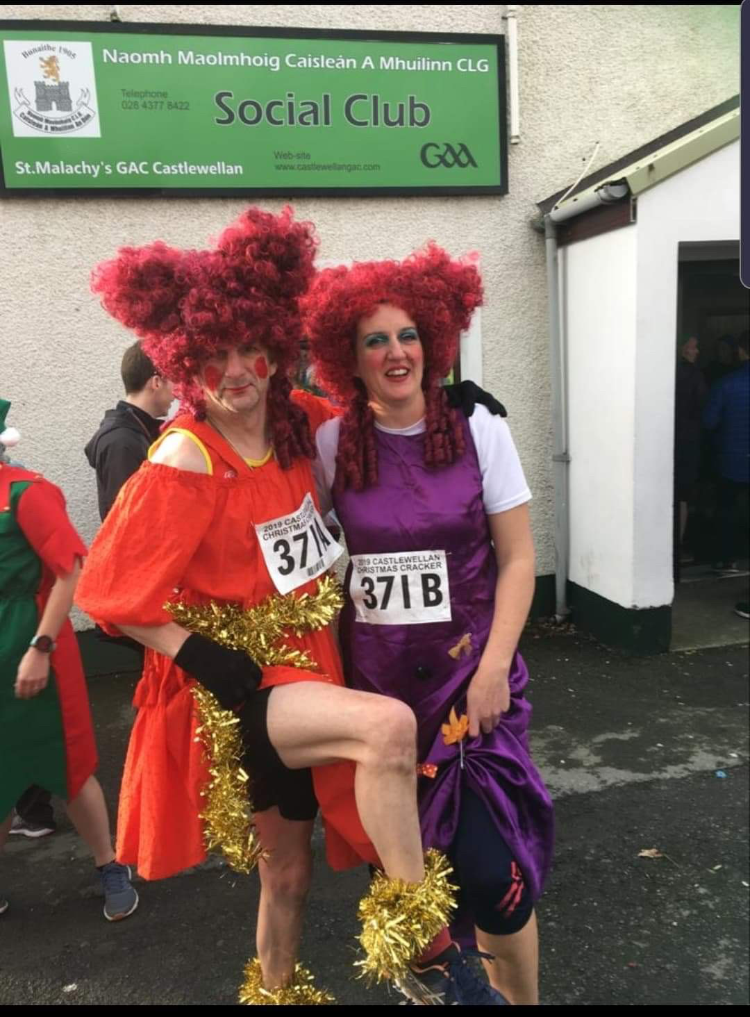 James Magennis and Cheryl Denvir, East Down's Ugly Sisters